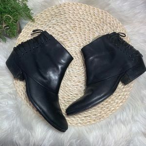 Sam Edelman leather lace up back ankle booties